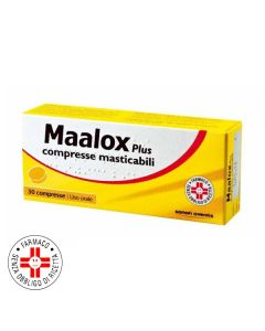 Farbene.shop | MAALOX PLUS*30 cpr mast 200 mg + 200 mg + 25 mg